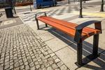 Ławka parkowa stalowa CENTAUR bez oparcia (ławka miejska) w sklepie internetowym Architekturaparkowa.pl