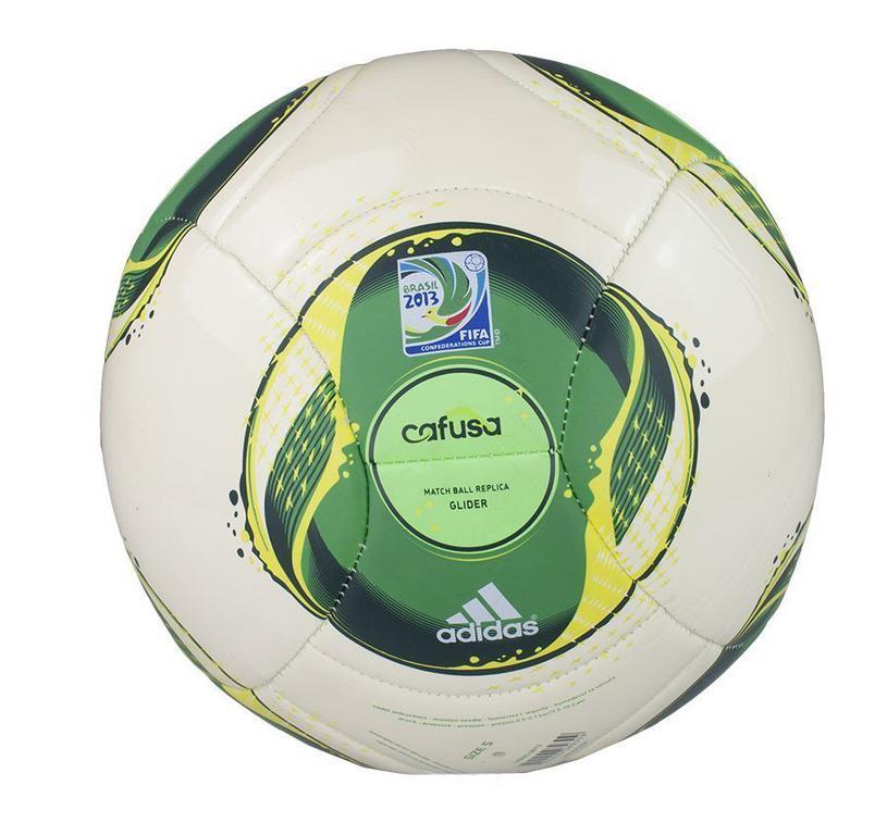 16adf70b962f4 Piłka Adidas CONFED CUP GLIDER żółto-zielona - Żółto-zielony w sklepie  internetowym Sporti. Powiększ zdjęcie