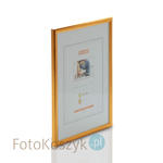 Ramka drewniana złota (na zdjęcie 21x30 cm) Ramka drewniana złota (na zdjęcie 21x30 cm) w sklepie internetowym Fotokoszyk.pl