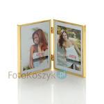 Ramka metalowa 65 (galeria na 2 zdjęcia 10x15 cm) Ramka metalowa 65 (galeria na 2 zdjęcia 10x15 cm) w sklepie internetowym Fotokoszyk.pl