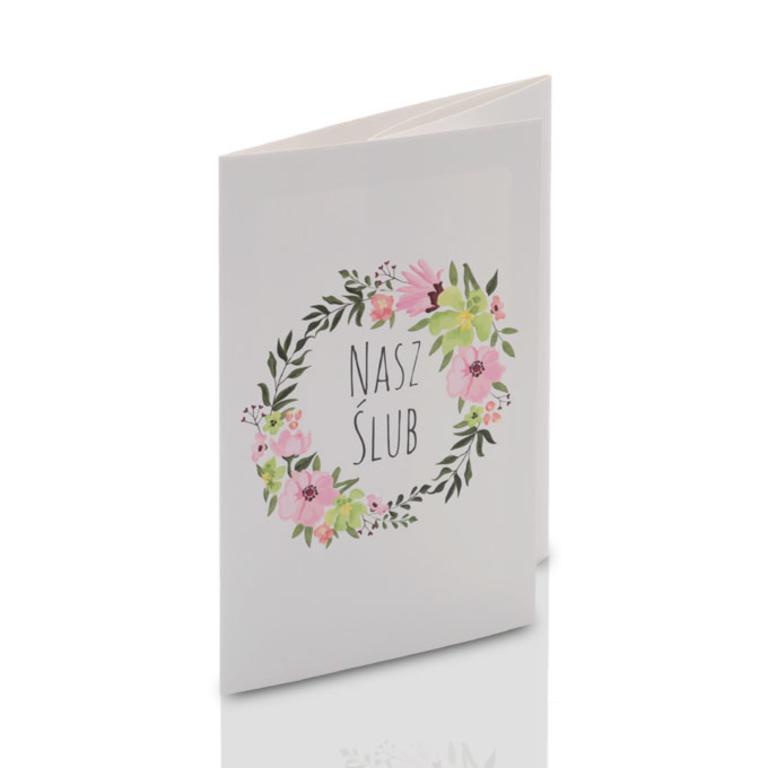 32687df132 Mini-Album TS Nasz Ślub kwiaty na dwa zdjęcia 13x18 plus zakładka Mini-Album.  Powiększ zdjęcie. 4 ...