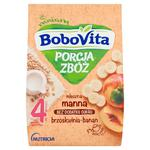 BoboVita Porcja zbóż Kaszka mleczna manna bananowo-brzoskwiniowa po 6 miesiącu 210g w sklepie internetowym InternetowySupermarket.pl