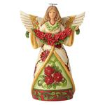 """Anioł figurka """"zimowe piękno"""" Winter Beauty In Bloom (Angel with Poinsettia Garland Figuri 6002902 Jim Shore figurka ozdoba świąteczna w sklepie internetowym MoodGood.pl"""