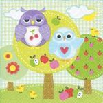 Serwetki do decoupage 33x33cm OWL PARK w sklepie internetowym Świat Artysty