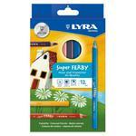 Kredki ołówkowe trójkątne, grube Lyra Super FERBY 12 kolorów w sklepie internetowym Świat Artysty