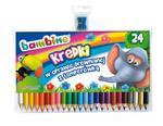 Kredki Bambino w drewnie 24 kolory + temperówka w sklepie internetowym Świat Artysty