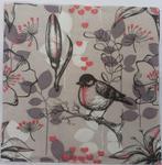 Serwetki do decoupage 33x33cm BIRD GREY ROSE w sklepie internetowym Świat Artysty