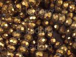 Szklane oponki fasetowane metaliczny cynamon 4x3 mm - sznur w sklepie internetowym Kadoro.pl