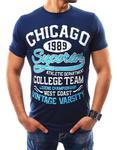 T-shirt męski z nadrukiem granatowy (rx2341) - Granatowy w sklepie internetowym Dstreet.pl