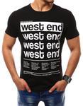 T-shirt męski z nadrukiem czarny (rx2405) - Czarny w sklepie internetowym Dstreet.pl