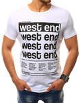 T-shirt męski z nadrukiem biały (rx2406) - Biały w sklepie internetowym Dstreet.pl