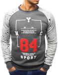 Bluza męska bez kaptura z nadrukiem antracytowa (bx3064) - Antracytowy w sklepie internetowym Dstreet.pl