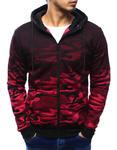 Bluza męska camo rozpinana czerwona z kapturem (bx3180) - Wielokolorowy w sklepie internetowym Dstreet.pl