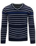 Sweter męski w paski granatowy (wx0860) - Granatowy w sklepie internetowym Dstreet.pl