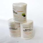 biodegradowalne bibułki do pieluszek wielorazowych 100szt. bambusowe w sklepie internetowym Lulajbaby.com