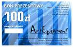 Bon prezentowy o wartości 100zł w sklepie internetowym ArtEquipment.pl