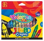 COLORINO - Kredki świecowe Jumbo 12 kolorów w sklepie internetowym ArtEquipment.pl