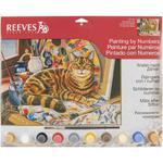 Malowanie po numerkach - Kot Artysty - 30x40 cm w sklepie internetowym ArtEquipment.pl