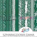Galeria Papieru blok papierów scrapowych Szmaragdowa Dama 30,5 x 30,5cm w sklepie internetowym TuLuz.pl