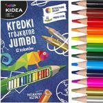 Kredki ołówkowe trójkątne grube 12 kolorów KIDEA (KTG12KA) w sklepie internetowym Tornistry.com.pl