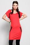 3928-2 Tunika a z ozdobnymi dżetami - czerwony w sklepie internetowym LadyStyle