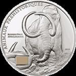 Wybrzeże Kości Słoniowej - 2010, 1000 franków - Mamut afrykański + skamielina w sklepie internetowym Numizmatyka24.pl