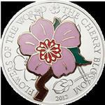 Cook Islands - 2012, 5 Dolarów - Kwiat Wiśni - Cherry blossom - Kwiaty Świata w sklepie internetowym Numizmatyka24.pl