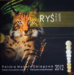 Polskie Monety Obiegowe 2012 - Zestaw 1 grosz - 5 złotych + Ryś (Lynx) w sklepie internetowym Numizmatyka24.pl