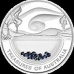 Australia - 1 dolar 2007 - Skarby Australii - Szafiry w sklepie internetowym Numizmatyka24.pl