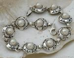 DORIA - srebrna bransoletka bransoletka z perłą w sklepie internetowym Topsilver.pl