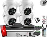 Zestaw do monitoringu HD Hikvision Hiwatch Rejestrator cyfrowy 4 kamery w sklepie internetowym ivel.pl