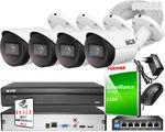 Cyfrowy monitoring IP do samodzielnego montażu Rejestrator BCS-NVR0801X5ME-II + 4x Kamera BCS-TIP3501IR-E-V + 1TB w sklepie internetowym ivel.pl