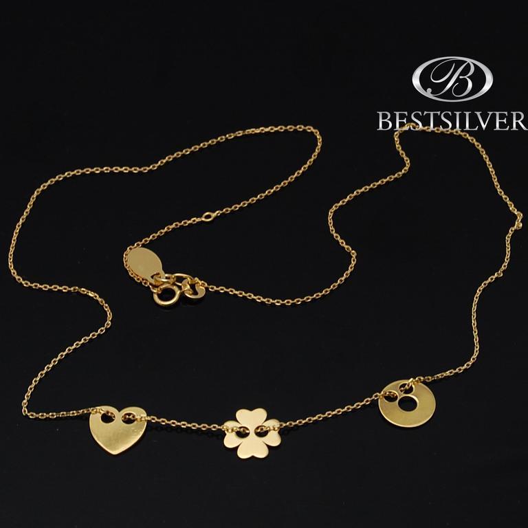 Bransoletka Złota celebrytka Kółko z dziurką złoto 333 Biżuteria srebrna sklep Bestsilver
