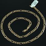Łańcuszek Srebrny złocony 55cm figaro 4,5mm Srebro złocone w sklepie internetowym Bestsilver.pl