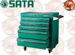 Wózek warsztatowy 5 szuflad, wyposażenie 150 elementów SATA S95121 w sklepie internetowym Pajm.pl