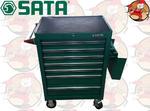 Wózek warsztatowy 9 szuflad, wyposażenie 299 elementów SATA S095107-2 w sklepie internetowym Pajm.pl