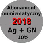Abonament numizmatyczny 2018 monety srebrne + 5 zł z marĹźÄ 10% w sklepie internetowym enumizmatyczny.pl
