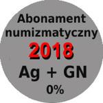 Abonament numizmatyczny 2018 bez marży: monety srebrne + 5 zł w sklepie internetowym enumizmatyczny.pl