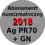 Abonament numizmatyczny 2018 na monety srebrne w gradingu PR70 w sklepie internetowym enumizmatyczny.pl