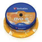 Płyty DVD-R VERBATIM 43522 4.7GB 16x - Cake Box - 25szt. w sklepie internetowym Profibiuro.pl