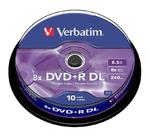 Płyty Verbatim DVD+R DL 8.5GB 8x - Spindle -10szt. - Matt Silver w sklepie internetowym Profibiuro.pl