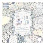 Zestaw papierów do scrapbookingu, It's a Boy, 15x15 cm, 200g/m2, 64 szt. [59-101-000] w sklepie internetowym KreatywnySwiat.pl