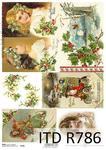 Papier ryżowy, Vintage - zimowa noc, świąteczne stroiki 2, A4 [ITD-R0786] w sklepie internetowym KreatywnySwiat.pl