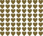Naklejki wzory skandynawskie serca S, 5cm, 64szt, kolor złoty w sklepie internetowym Inkhouse