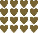 Naklejki wzory skandynawskie serca L, 9.5cm, 16szt, kolor złoty w sklepie internetowym Inkhouse