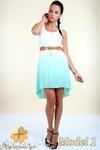 CM0300 Zwiewna cieniowana sukienka pasek gratis - model 1 w sklepie internetowym Cudmoda