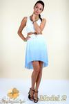CM0300 Zwiewna cieniowana sukienka pasek gratis - model 2 w sklepie internetowym Cudmoda