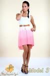 CM0300 Zwiewna cieniowana sukienka pasek gratis - model 3 w sklepie internetowym Cudmoda