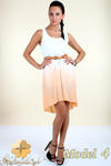 CM0300 Zwiewna cieniowana sukienka pasek gratis - model 4 w sklepie internetowym Cudmoda