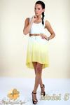 CM0300 Zwiewna cieniowana sukienka pasek gratis - model 5 w sklepie internetowym Cudmoda